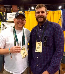 Brian Gillespie and Josh Cody at the Dostal Alley Booth